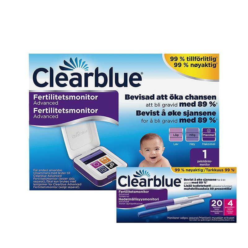 Clearblue Advanced Fertilitetsmonitor inkl. 20 + 4 stk. testpinner