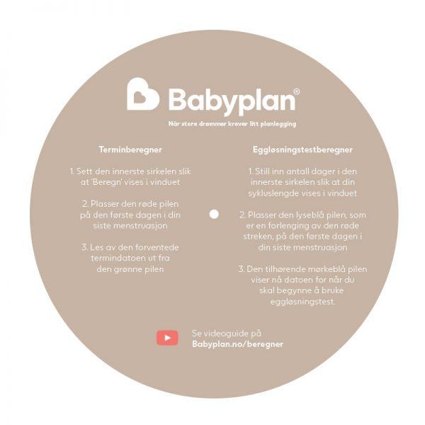 Babyplans Terminberegner og eggløsningstestberegner